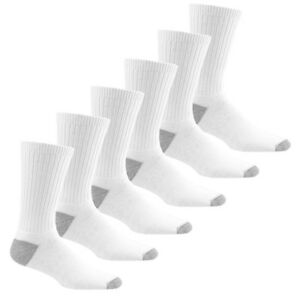 Lot of 9 Pairs New Cotton Men/'s Athletic Sports Crew Socks Size 9-11 White Color