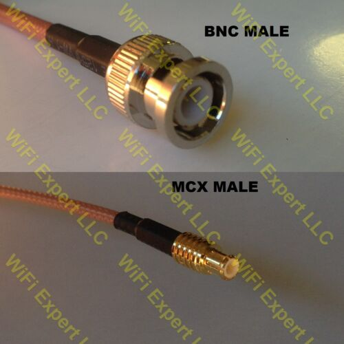 USA-CA RG188  BNC MALE to MCX MALE Coaxial RF Pigtail Cable