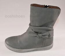 Noel Girls Josy Grey Short Leather Zip Boots UK 12 EU 30 US 12.5