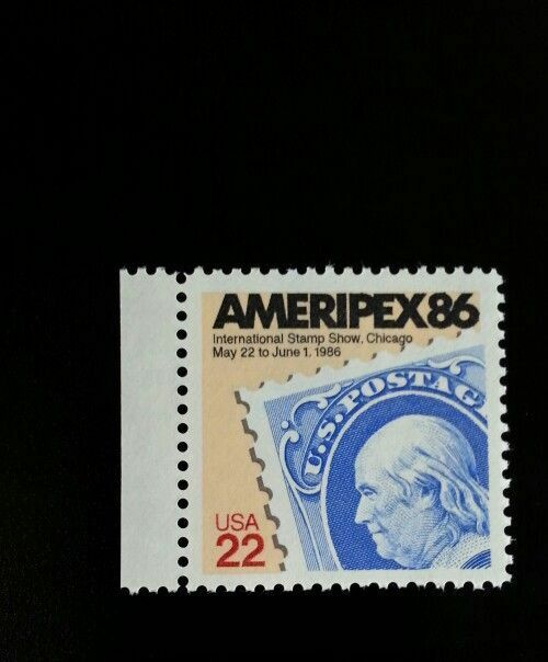 1985 22c Ameripex '86 International Stamp Show, Chicago