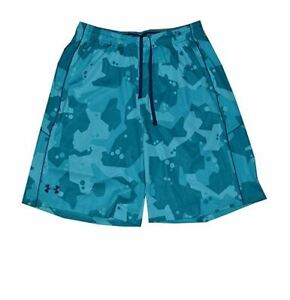 NWT-Under-Armour-Men-039-s-HeatGear-10-034-Loose-Fit-Shorts-Teal-Green