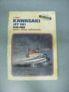 Details about Clymer Repair Manual X956 Kawasaki Jet Ski JS 440 - 550 on