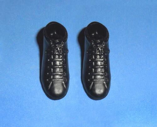 Vintage Barbie Ken #0776 Ken In Switzerland Black Hiking Boots Shoes