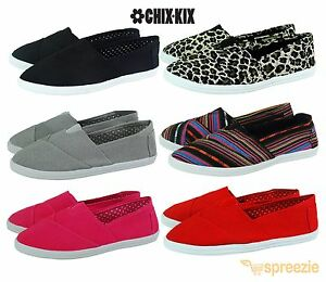Womens-Canvas-Shoes-Slip-On-Casual-Sneakers-Kicks-Ballerina-Tennis-Flats-Colors
