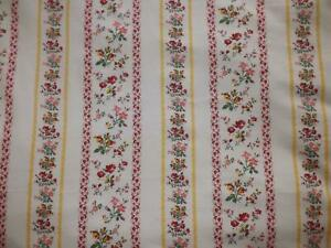 160-x-240-cms-Vintage-Cotton-Fabric-Shabby-Chic-Flowers-amp-Stripes-Sewing-Craftin