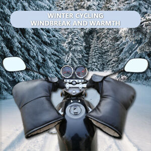 Hiver-Moto-Moto-Guidon-Gants-Scooter-Poignees-Manchons-Chauffe-Coton