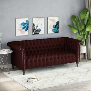 Barneyville Traditional Chesterfield Sofa with Tufted Cushions