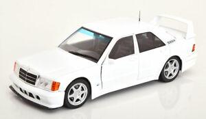 MERCEDES-BENZ-190E-Evolution-blanc-echelle-1-18-Modele-Bon-Detail-classique-Diecast