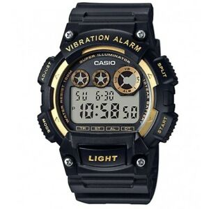 Casio-W-735H-1A2V-Black-Gold-Illuminator-Men-039-s-Digital-Sports-Watch