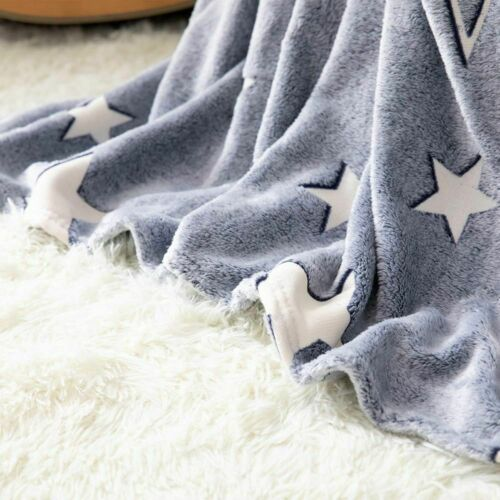 Details about  /Glow Blanket Super Soft Plush Fleece Decorations Christmas Birthday Gift Glowing