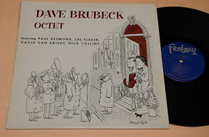 DAVE-BRUBECK-OCTET-LP-TOP-JAZZ-ORIG-USA-FANTASY-LABEL-NM-COVER-ARNOLD-ROTH