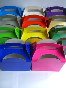 PARTY-Food-Lunch-BOXES-12-Colour-Range-3-4-5-6-7-8-9-10-11-12-Card