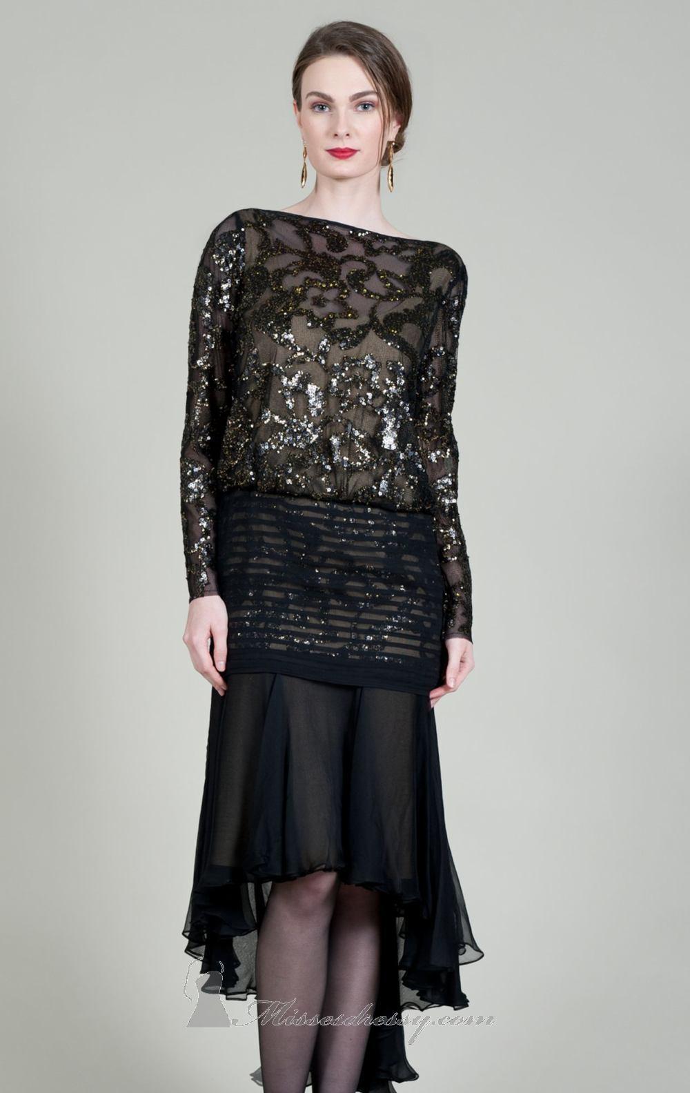 Tadashi Shoji  Dress with Long Sleeves (Size 2)