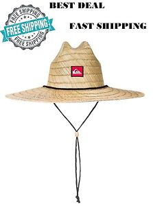 5b97ade6 Image is loading Quiksilver-Mens-Pierside-Straw-Sun-Hat-Natural-Adjustable-