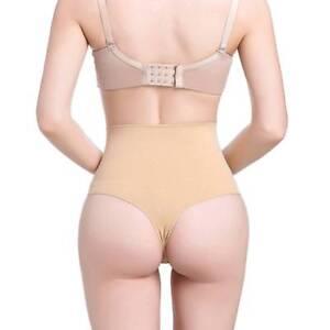 4c017c3744e Women s High Waist Tummy Slimming Control Bodyshaper Thong G-string ...