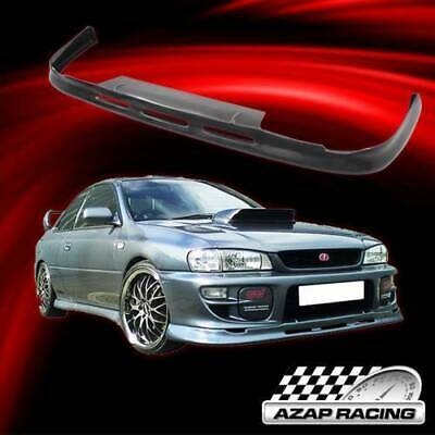 P1-Style PU Black Front Lip Spoiler Splitter Air Dam Chin Diffuser Add On by IKON MOTORSPORTS Front Bumper Lip Compatible With 1997-2001 SUBARU IMPREZA /& WRX 1998 1999 2000