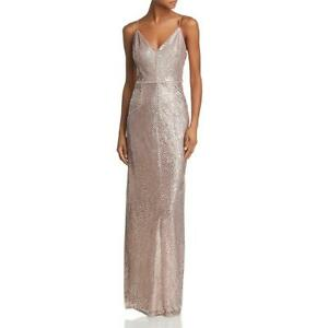 Adrianna-Papell-Womens-Pink-Striped-Sequin-Formal-Evening-Dress-Gown-6-BHFO-4485