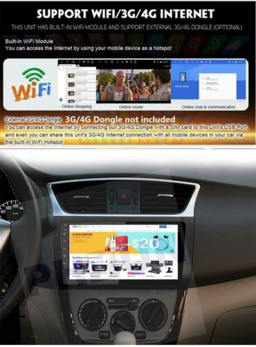 """10.1/""""Android 9.0 1+16GB Car Radio GPS WiFi for Nissan Sentra Sylphy Pulsar 13-17"""