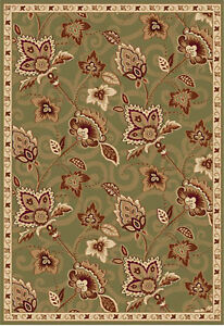 Area-Rugs-Green-Modern-Area-Rug-Transitional-Oriental-Bordered-Floral-Carpet