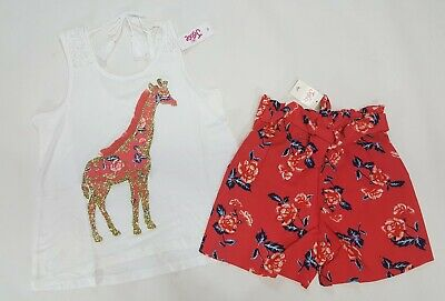 NWT Justice Girls Outfit Size 18//20 Unicorn Tank Top /& Pink Lace Up Shorts