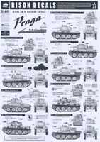 Bison Decals 1/35 Praga 38(t) Tank In German Service