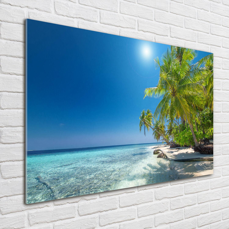 Acrylglas-Bild Wandbilder Druck 100x70 Deko Landschaften Malediven Strand