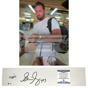 Eric Gagne L.A. Dodgers Autograph Signed Baseball Pitching Rubber Beckett BAS