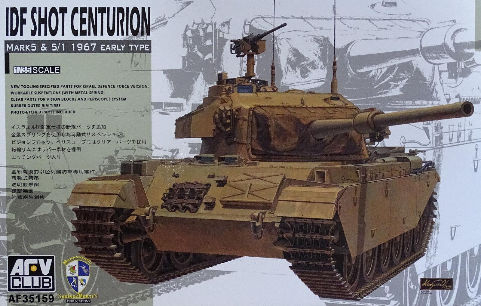 AFV CLUB 35159 IDF Shot Centurion Centurion Centurion Mk.5 & 5 1 1967 Early Type in 1 35  | Schön In Der Farbe  34b148