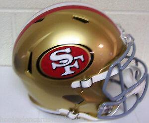 San Francisco 49ers Nfl Full Size Helmet Replica Speed Ebay