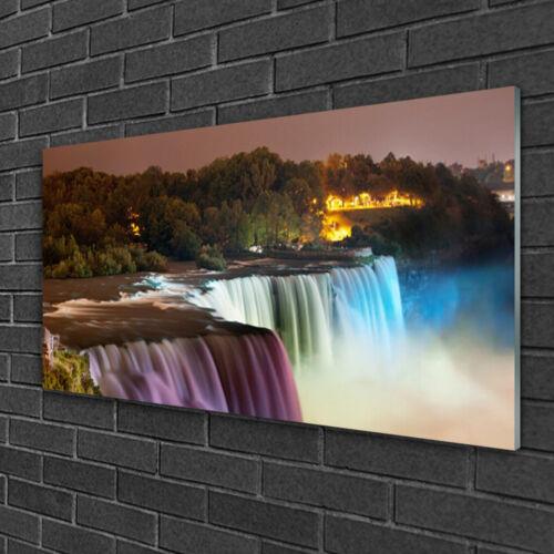 Wandbilder 100x50 Glasbild Druck auf Glas Wald Wasserfall Natur