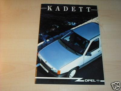 10683) Opel Kadett Österreich Prospekt 1989 Rabatte Verkauf