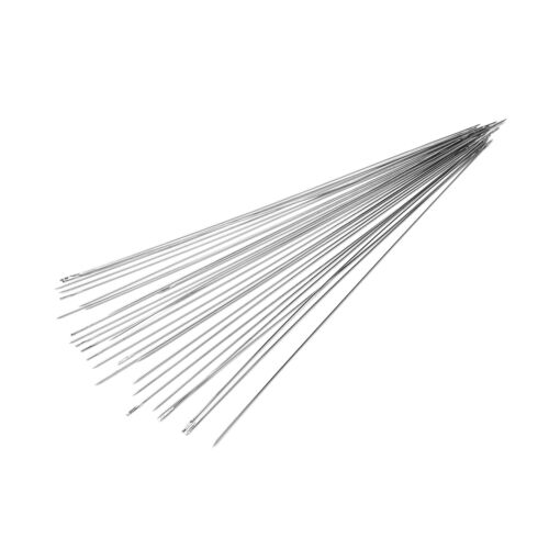 30 pcs stainless steel Big Eye Beading Needles Easy Thread 120x0.6mm Fine VQ