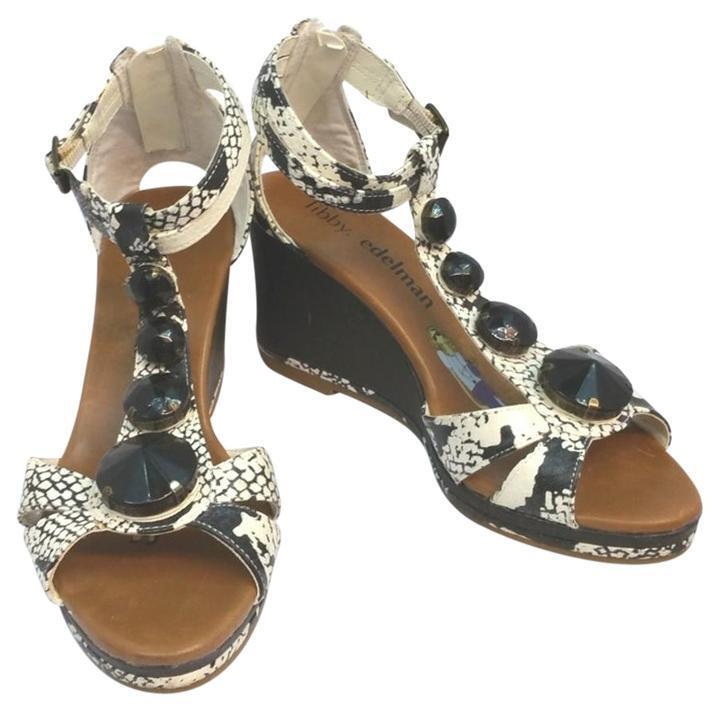 Libby Edelman Women's shoes Bani Wedge Sandals Jeweled shoes Size 5.5  NWOB