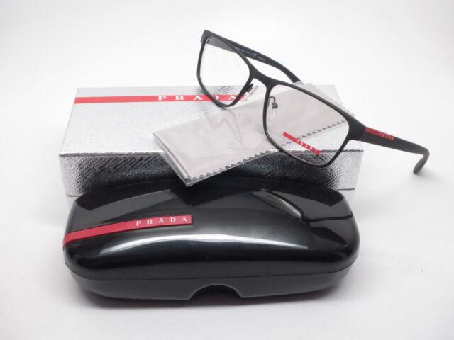 13a943031b98 Original PRADA PR PS 50gv Dg0-1o1 Black Frame Rectangular 55mm Eyeglasses