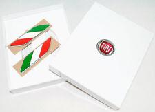 Fiat 500 Italian Flag Wing Badges Emblem New and Genuine 50901681