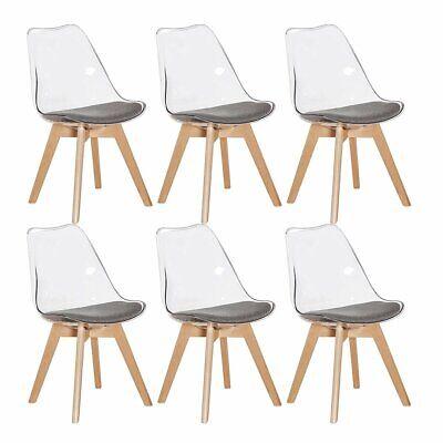 set di 2 4 6 sedie trasparente in policarbonato sedie