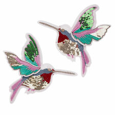 Embroidery Sequin HummingBirds Patch  Applique Sew On Clothing Accessory DIY