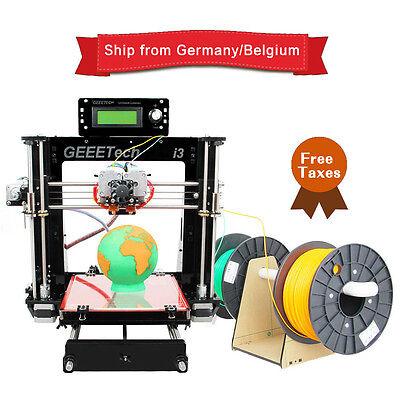 Duty free! GEEETECH Acrylique Prusa I3 double extrudeuse MK8 3D imprimante Pro C