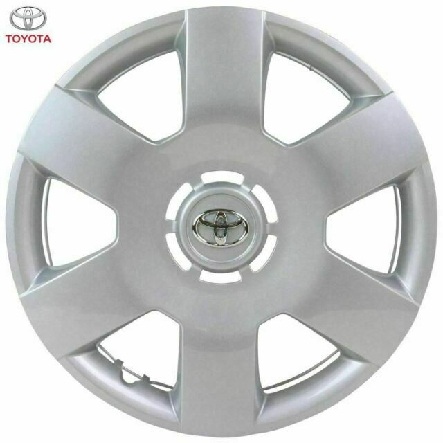 """Genuine Toyota Aygo 14/"""" Wheel Trim 6 Spoke Silver x1 2005-2014 426020H010"""