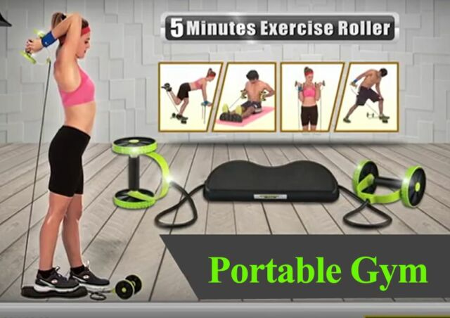 ADJUSTABLE PULL ROPE Abdominal Waist & Body Trainer - Home Gym Fitness/Exercise