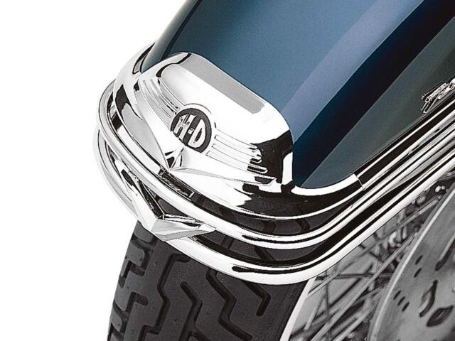 Harley shovelhead touring flht softail dyna sportster chrome front fender trim