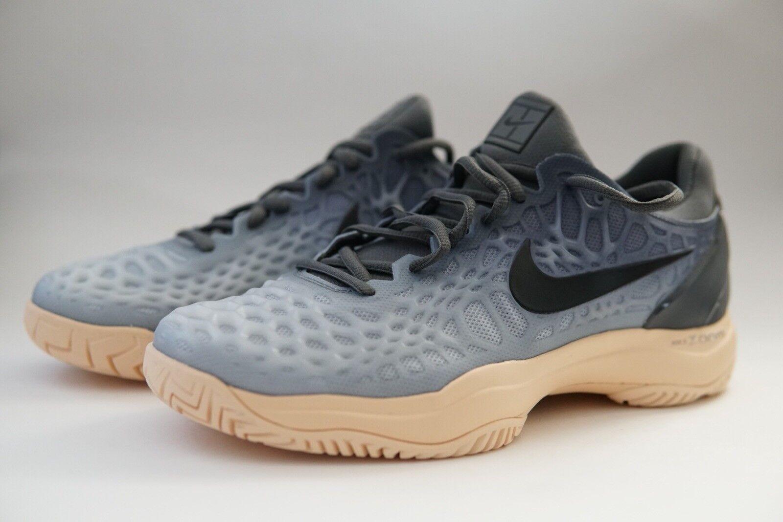 Nike air zoom gabbia 3 hc scarpe da tennis grey 918199-001 le dimensioni