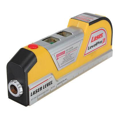 2.5m 8ft Livella Level Laser Orizzontale Verticale Precisione Righello Nastro