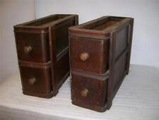 Set of 4 Oak Singer Sewing Machine Drawers.  Brass Knobs.