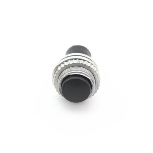 10  Black Momentary Push Button  Switch 10mm DS-314 ON//OFF Lockless Switches