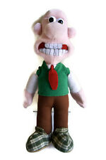 """Wallace 15"""" Doll 1989 Wallace and Gromit Aardman Toy Plush Vintage"""