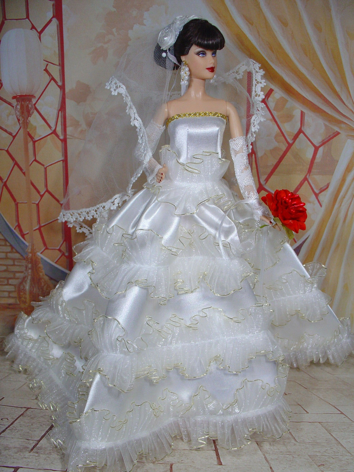 BARBIE DOLL ROBE DE MARIÉE MARIÉE MARIÉE WEDDING GOWN BRIDE   05670 d6e77a