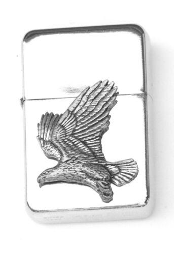 Eagle Flying Emblem Windproof Petrol Lighter FREE ENGRAVING Personalised Gift