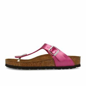 promo code 105a5 0cf2b Details zu Birkenstock Gizeh BF Electric Metallic Magenta Schuhe Sandalen  Zehentrenner Pink