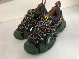 dd71581211a59 Image is loading Gucci-Flashtrek-sneaker-with-removable-crystals
